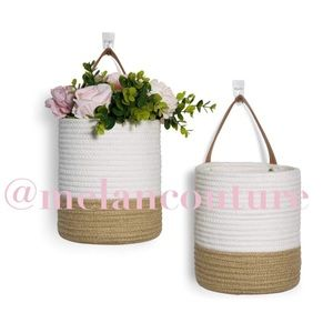 2 Pcs Rope Hanging Basket -Storage